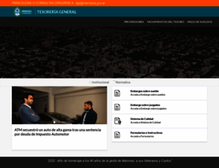tesoreria.mendoza.gov.ar screenshot