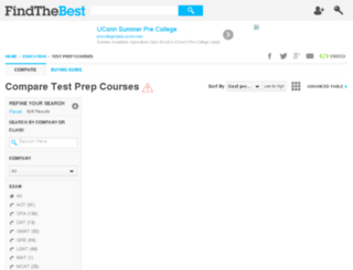 test-prep.findthebest.com screenshot