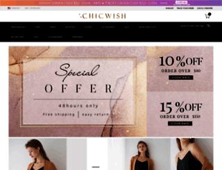 test.chicwish.com screenshot