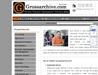 test.grossarchive.com screenshot