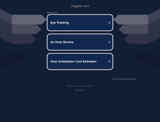 test.mygaze.com screenshot