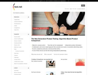 test.net screenshot