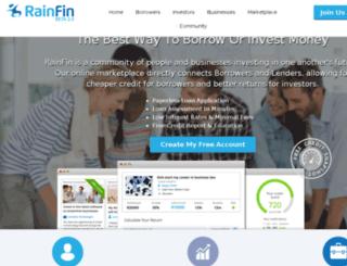test.rainfin.com screenshot