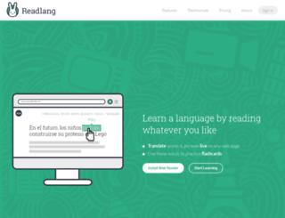 test.readlang.com screenshot