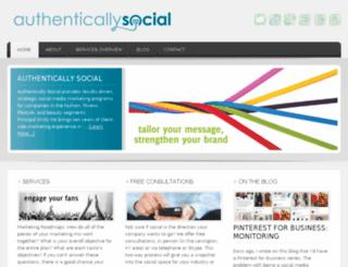 test1.authenticallysocial.com screenshot