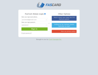 testadmin.fascard.com screenshot