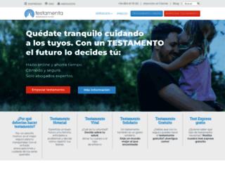 testamenta.es screenshot