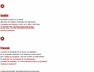 testcanada.com screenshot