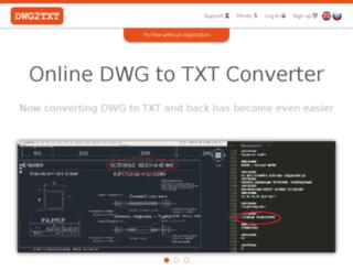 testdxf2txt.ru screenshot