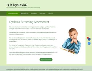 testdyslexia.com screenshot
