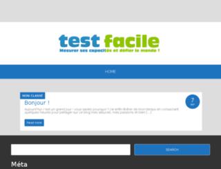 testfacile.com screenshot
