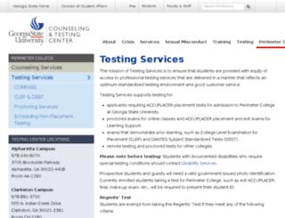 testing.gpc.edu screenshot