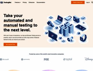 testingbot.com screenshot