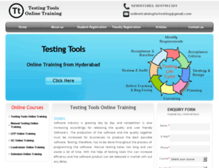 testingtoolsonlinetraining.in screenshot