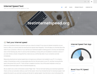 testinternetspeed.org screenshot