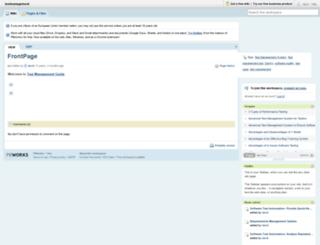 testmanagement.pbwiki.com screenshot