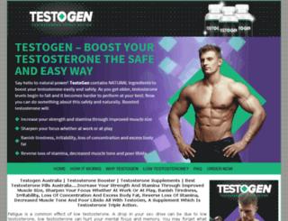 testogenaustralia.com screenshot