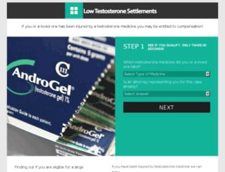testosteronemedicinelawsuit.com screenshot
