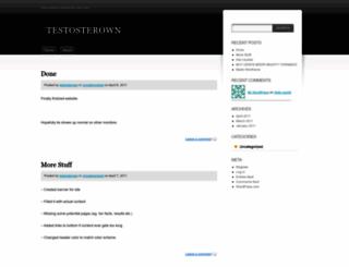 testosterown.wordpress.com screenshot
