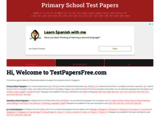 testpapersfree.com screenshot