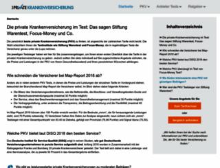 testprivatekrankenversicherung.de screenshot