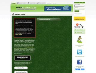 testrugby.com screenshot