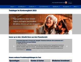 testsieger-konto.de screenshot