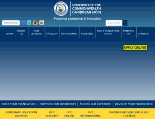 testsite.ucc.edu.jm screenshot