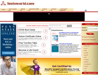 testsworld.com screenshot