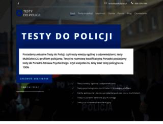 testydopolicji.com.pl screenshot