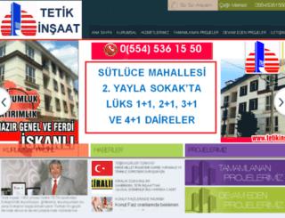 tetikinsaat.com screenshot