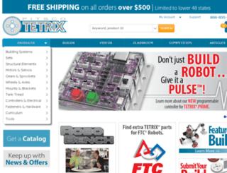 tetrixrobotics.com screenshot