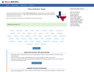 texas-schools.org screenshot