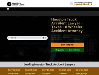 texas-truckaccidentlawyer.com screenshot