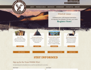 texas-wildlife.org screenshot