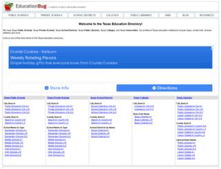 texas.educationbug.org screenshot