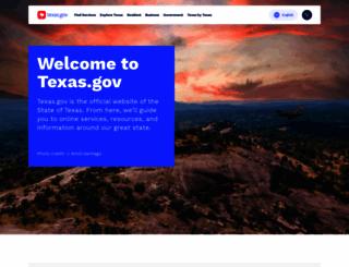 texas.gov screenshot