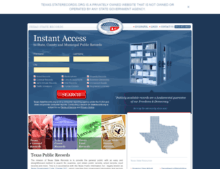 texas.staterecords.org screenshot