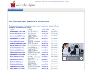 texas.webschoolpro.com screenshot