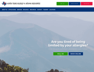 texasallergyonline.com screenshot
