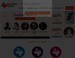 texasbookfestival.org screenshot