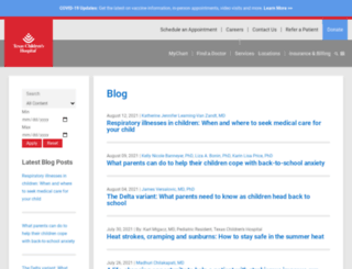 texaschildrensblog.org screenshot