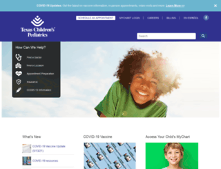 texaschildrenspediatrics.org screenshot