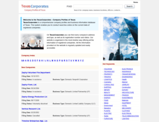 texascorporates.com screenshot