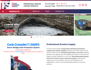 texaserosionsupply.com screenshot
