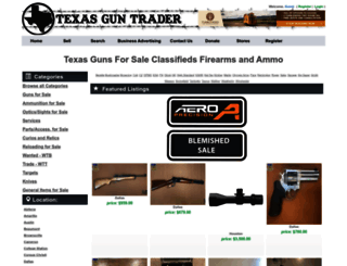 texasguntrader.com screenshot