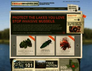 texasinvasives.org screenshot