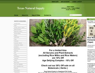 texasnaturalsupply.com screenshot