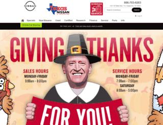 texasnissan.com screenshot