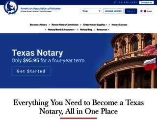 texasnotary.com screenshot